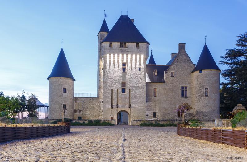 Chateau du Rivau de nuit