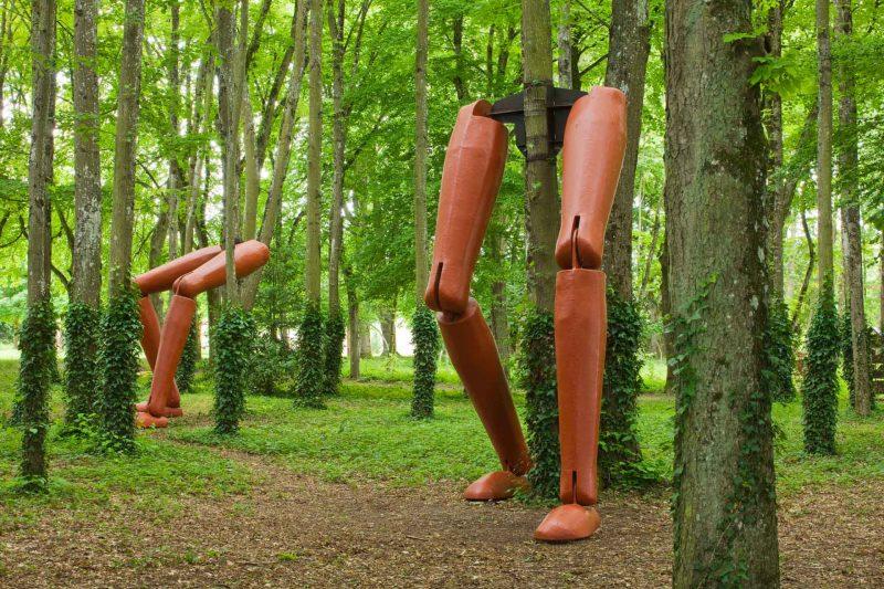 Sculptures dans les jardins